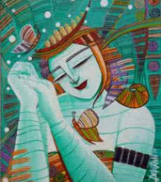 Dream I | Painting by artist DEVIRANI DASGUPTA | acrylic | Canvas Board