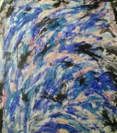 Figurative Mixed-media Art Painting title 'Force Of Life' by artist DEVIRANI DASGUPTA