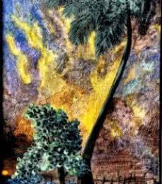 DEVIRANI DASGUPTA | Acrylic Painting title Landscape I on Canvas | Artist DEVIRANI DASGUPTA Gallery | ArtZolo.com