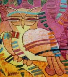 The Owl | Painting by artist DEVIRANI DASGUPTA | acrylic | Canvas Board