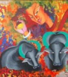 Figurative Acrylic Art Painting title Shivohum 5 by artist Deepali Mundra