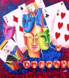 Gamble Of Life | Painting by artist Deepali Mundra | acrylic | Canvas