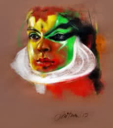Expression   Painting by artist Mithun Dutta   mixed-media   Canvas