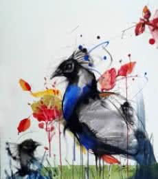 Animals Mixed-media Art Painting title Peacock by artist Mithun Dutta