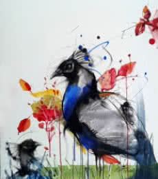 Peacock | Painting by artist Mithun Dutta | mixed-media | Board