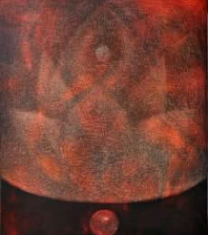 Abstract Oil Art Painting title 'Pipasa2' by artist Hanumanth Devulapalli