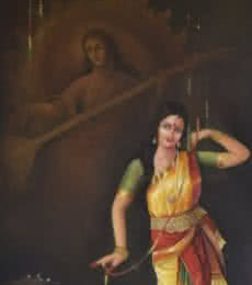 Music Oil Art Painting title 'The Divine Dance' by artist Durshit Bhaskar