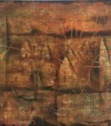 Abstract Oil Art Painting title 'Roots' by artist Durshit Bhaskar