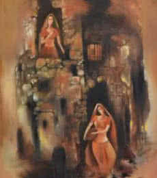 Durshit Bhaskar | Oil Painting title Portraits of Devotion on Canvas | Artist Durshit Bhaskar Gallery | ArtZolo.com