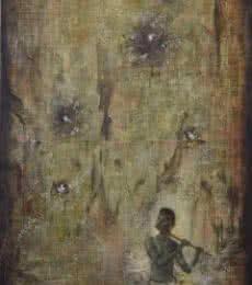 Krishna With Doves | Painting by artist Durshit Bhaskar | oil | Canvas