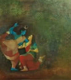 Durshit Bhaskar | Oil Painting title Shiva on Canvas | Artist Durshit Bhaskar Gallery | ArtZolo.com