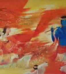 Radha Krishna   Painting by artist Durshit Bhaskar   oil   Canvas