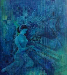Pianist | Painting by artist Durshit Bhaskar | oil | Canvas