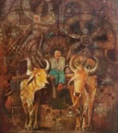 Countryside | Painting by artist Durshit Bhaskar | oil | Canvas