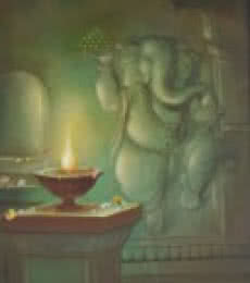 Ganesha Budhipriya | Painting by artist Durshit Bhaskar | oil | Canvas