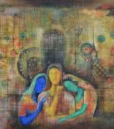 Expressionist Oil Art Painting title 'Dab93' by artist Durshit Bhaskar