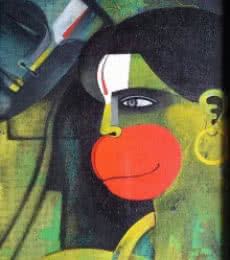Hanuman I | Painting by artist Appam Raghavendra | acrylic | Canvas