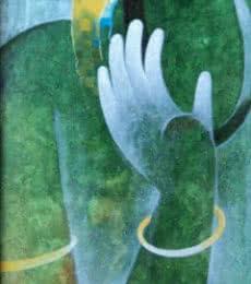 Appam Raghavendra | Acrylic Painting title Hanuman II on Canvas | Artist Appam Raghavendra Gallery | ArtZolo.com