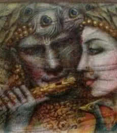 Darshan Sharma | Oil Painting title Radha Krishna II on Canvas | Artist Darshan Sharma Gallery | ArtZolo.com