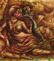Eternal Love | Painting by artist Darshan Sharma | oil | Canvas