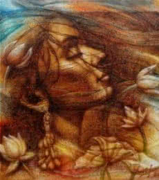 Darshan Sharma | Oil Painting title Eternal Beauty 5 on Canvas | Artist Darshan Sharma Gallery | ArtZolo.com