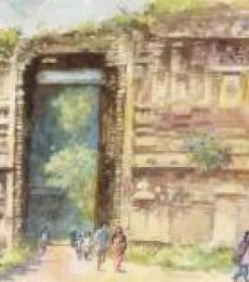 The Grand Entrance | Painting by artist Sankara Babu | watercolor | Paper