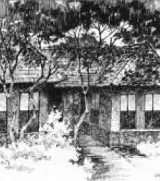 The Solitary Hut   Drawing by artist Sankara Babu      pen   Paper