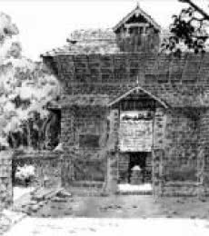 The Temple   Drawing by artist Sankara Babu      pen   Paper