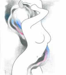Hot and steamy girl | Drawing by artist Manoj Gujral |  | pencil | Canvas