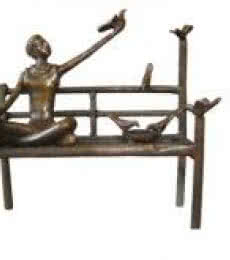 Bronze Sculpture titled 'Freedom Of Life III' by artist Asurvedh Ved