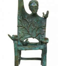 Asurvedh Ved | Memorable Chair Sculpture by artist Asurvedh Ved on Bronze | ArtZolo.com