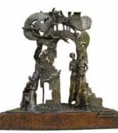 Bronze Sculpture titled 'Sonnte Bronze' by artist Asurvedh Ved