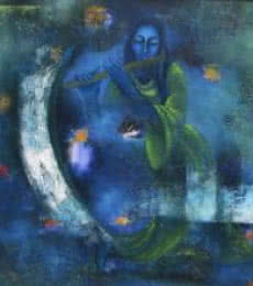 Mystic World | Painting by artist Vijaya Ved | oil | Canvas