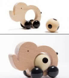 Appu Pull Along Wooden Toy | Craft by artist Oodees Toys | wood