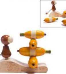 Oodees Toys | Go Bananas Balancing Wooden Toy Craft Craft by artist Oodees Toys | Indian Handicraft | ArtZolo.com