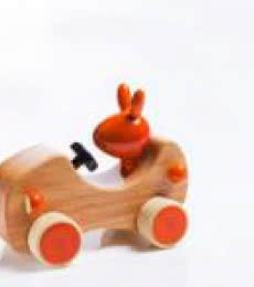 Goofy Wooden Toy Car | Craft by artist Vijay Pathi | wood