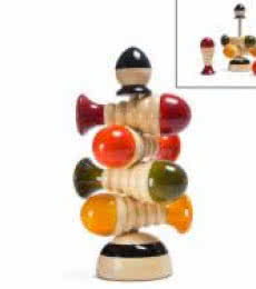 Oodees Toys | Jimmy Stacking Wooden Toy Craft Craft by artist Oodees Toys | Indian Handicraft | ArtZolo.com