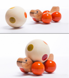 Oodees Toys | Jolly Turtle Orange Wooden Toy Craft Craft by artist Oodees Toys | Indian Handicraft | ArtZolo.com