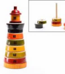 Light House Stacking Wooden Toy | Craft by artist Oodees Toys | wood