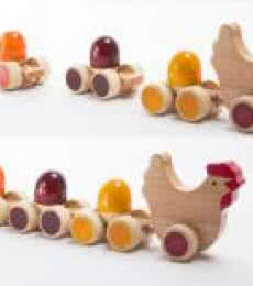 Tuck Tuck Pull Along Wooden Toy | Craft by artist Oodees Toys | wood