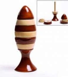 Ubuntu Brown Stacking Wooden Toy   Craft by artist Oodees Toys   wood