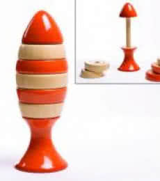 Oodees Toys | Ubuntu Orange Stacking Wooden Toy Craft Craft by artist Oodees Toys | Indian Handicraft | ArtZolo.com