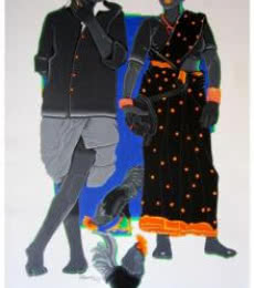 Rural Couple I | Painting by artist Tailor Srinivas | acrylic | Canvas