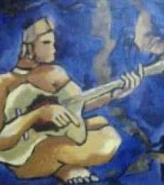 Gitter player | Painting by artist Chaitan Bhosale | acrylic | 18 24