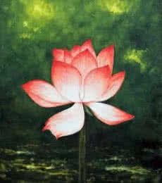 Still-life Acrylic Art Painting title Lotus by artist Seby Augustine