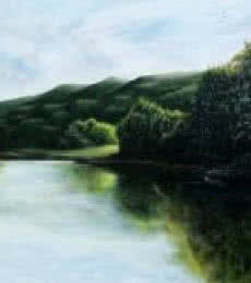 Crystal Clear | Painting by artist Seby Augustine | acrylic | Canvas