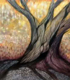 Surrealist Acrylic Art Painting title 'The Tree' by artist Seby Augustine