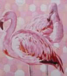 Flamingos | Painting by artist Gunjan Adya | oil | Canvas