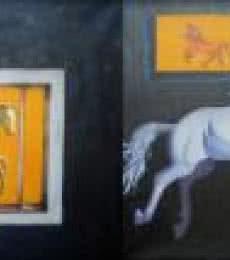 Sripad Kulkarni | Horse Series Mixed media by artist Sripad Kulkarni on Canvas | ArtZolo.com