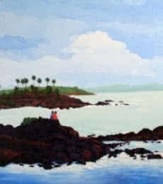 Seashore | Painting by artist Tushar Patange | oil | Canvas